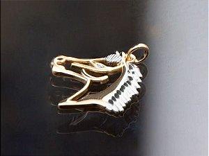 Pingente de Cavalo e aplique de Zirconia Jóia Folheada