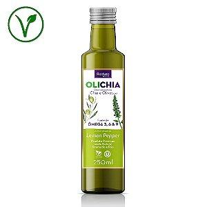 OLICHIA Lemon Pepper - Azeite Premium de Chia e Oliva sabor Lemon Pepper - Garrafa 250ml