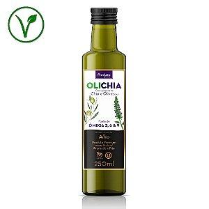 OLICHIA Alho - Azeite Premium de Chia e Oliva sabor Alho - Garrafa 250ml