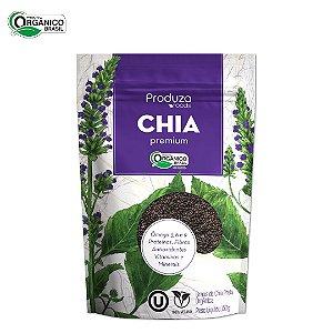 Grãos de Chia Preta Premium Orgânica