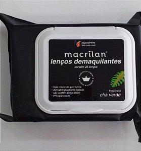 Lenço Demaquilante Chá Verde - Macrilan