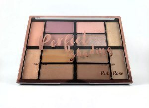 Paleta de Blush, Iluminador, Bronzer e Contorno Perfect Shading - Ruby Rose