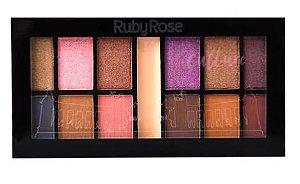 Kit de Sombras (12 Sombras e 1 Primer) - Ruby Rose