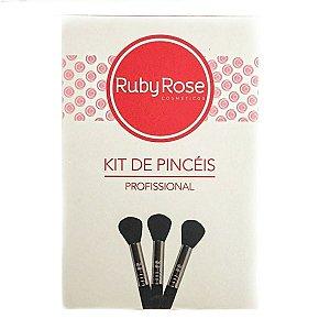 Kit de Pincéis Profissional - RUBY ROSE