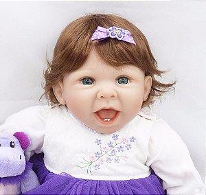 b70376de7 Boneca Bebê Reborn Menina Sorrindo Realista MARIA JÚLIA