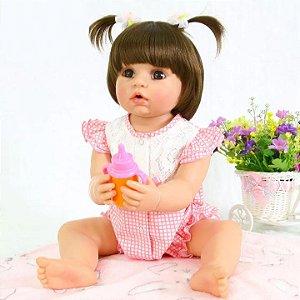 92ae1d75a Boneca Bebê Reborn Realista Morena Inteira de Silicone LAURA - Doce ...