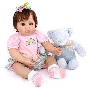 96ecf34294 Boneca Bebê Reborn Menina Realista Adora Doll MANUELA
