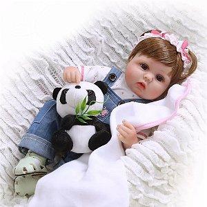 e4afc41c30 Boneca Bebê Reborn Menina Silicone Macio Realista ANA LARA - Doce ...