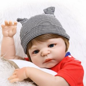 5995df404 Boneca Bebê Reborn Menino Inteiro de Silicone Banho HENRIQUE - Pronta  Entrega
