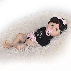 b3695a9aa Promoção Bebê Reborn Menina Pode dar Banho Olhos Azuis e Enxoval HALEY