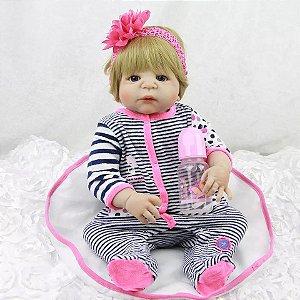 cb474daea Promoção Bebê Reborn Menina Loira Inteira de Silicone Pode dar Banho À  PRONTA ENTREGA - RAFAELA