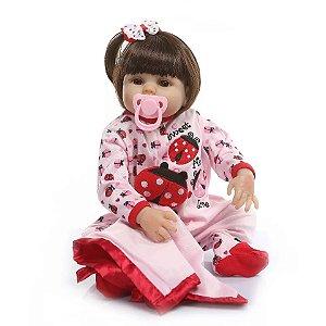 0622e6790 Promoção Bebê Reborn Menina Inteira de Silicone Pode dar Banho CAMILA