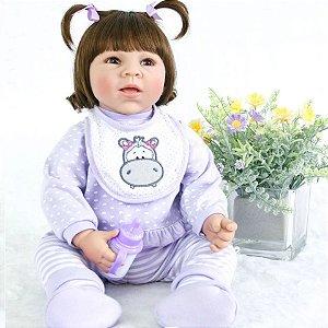 82c2a4be0 Bebê Reborn Menina Realista Pode dar Banho Inteira de Silicone Enxoval  MARIA HELOISA