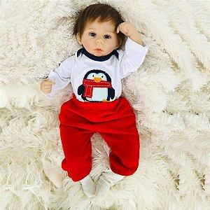 ddea302f6 Bebê Reborn Menino Ou Menina Olhos Azuis Realista Cabelo Fio a Fio  Implantado Enxoval Completo Promoção
