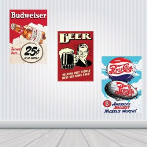 Placas Decorativas Bebidas