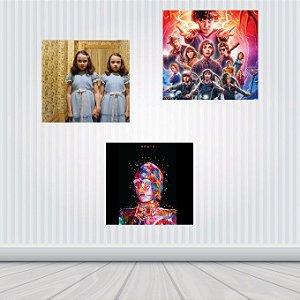 Placa Decorativa Filmes/Séries em MDF