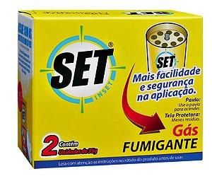 Inseticida Dedetizador Set Inset Fumeta 2x35g Cartucho 12 unidades