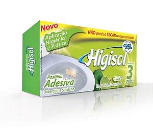 Pastilha Adesiva Higisol Cítrico 3x9g 24 unidades