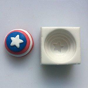 Molde Escudo Capitão América 160