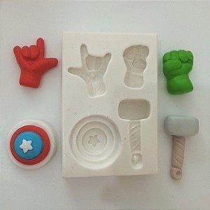 Molde Miniaturas dos Super Herois 409