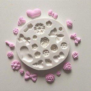 Molde flores em miniatura 673