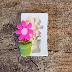Molde Flor com Vaso 1360