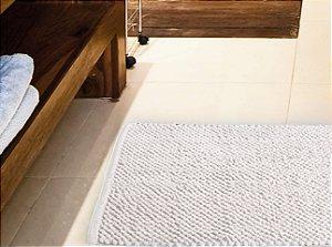 Tapete para Banheiro Antiderrapante Micropop Branco