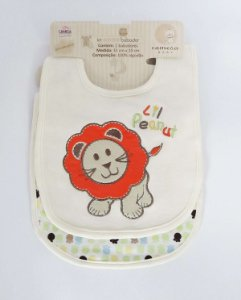 Kit Babador Baby Camesa 32 x 20cm Leão Bege