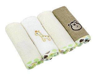 Kit toalha de boca Baby Camesa 4 peças Bege