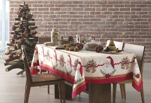 Toalha de Mesa Natal Tempo de Abraçar Karsten