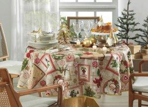 Tolha de Mesa Natal Tempo de Decorar Karsten