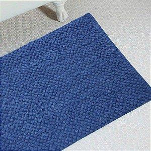 Tapete para Banheiro Antiderrapante Micropop 60 x 40cm Azul Piscina