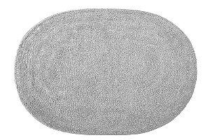 Tapete de Banheiro Oval Missy Attuale 60 x 40cm Cinza