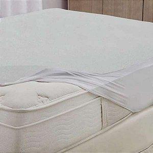 Protetor de Colchão Casal Impermeável Branco Protect Care