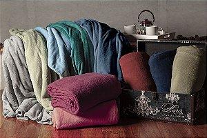 Cobertor Manta Microfibra Solteiro 150x220cm Cores Camesa