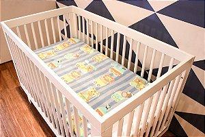 Manta Soft Bebe Menino Azul Bichinhos 80x110cm Camesa