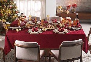 Toalha de Mesa Retangular Karsten Celebration Verissimo Vermelha 160x270