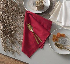 Guardanapo de Tecido Gourmet Vermelho Karsten 51x51cm