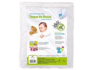 Protetor de Colchão Toque de Rosas Baby Impermeável 70x130 Fibrasca