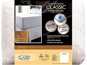 Protetor de Colchão Impermeável Classic Slip Malha solteiro 90x190 Fibrasca