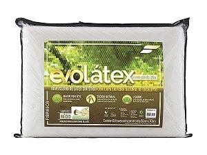 Travesseiro Evo Látex Médio 11cm Fibrasca p/fronha 50x70 Capa em Viscose de Fibra de Eucalipto