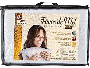 Travesseiro Favos de Mel Plus D20 Integralmente Lavável em Máquina Silicomfort Fibrasca para fronhas 50x70cm