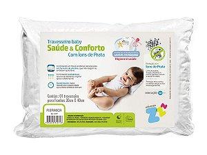 Travesseiro íons de Prata Baby Lavável 30x40 Fibrasca