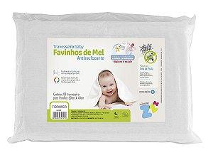 Travesseiro Favinhos Baby Antissufocante Lavável 6 meses + p/fronhas 30x40 Fibrasca