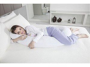 Travesseiro de Corpo Minhocão Para Gestante Fibrasca 25x150