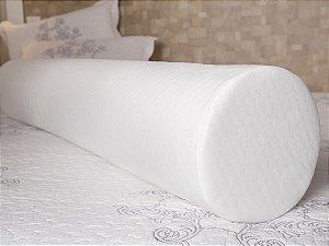 Travesseiro Rolo para Cabeceira de Cama Casal 20x135 Fibrasca