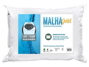 Travesseiro Malha Gold Integralmente Lavável p/fronhas 50x70 Fibrasca