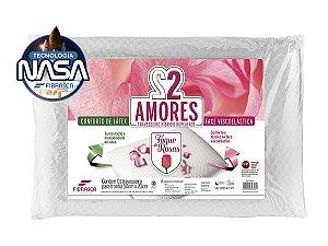 Travesseiro Nasa Toque de Rosas 2 Amores Uma Face Látex e uma em Viscoelástico Fibrasca