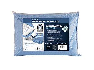 Travesseiro Látex Lavável Sintético Frostygel p/fronhas 50x70 Fibrasca