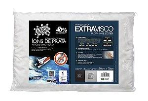 Travesseiro Nasa Alto Extravisco íons de prata p/fronhas 50x70 Fibrasca